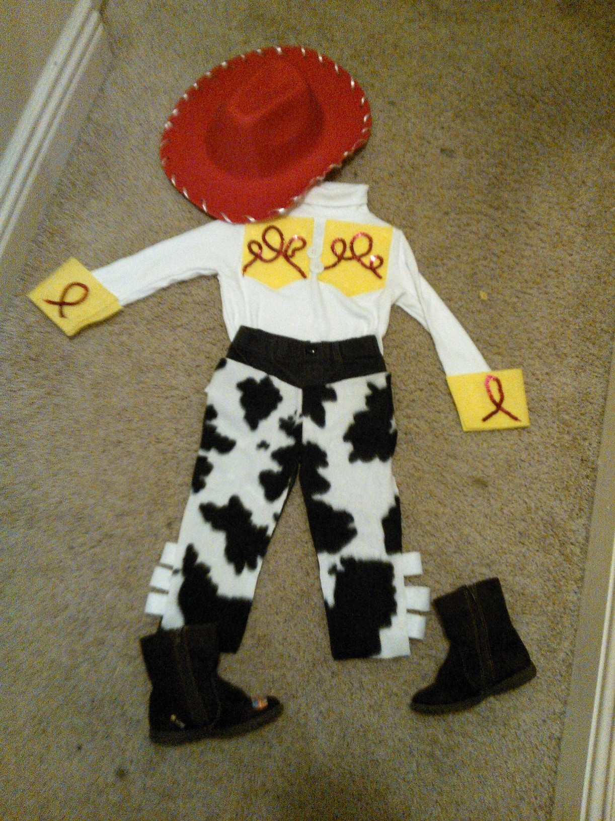 No Sew Jessie From Toy Story Costume For Halloween Yee Haw The