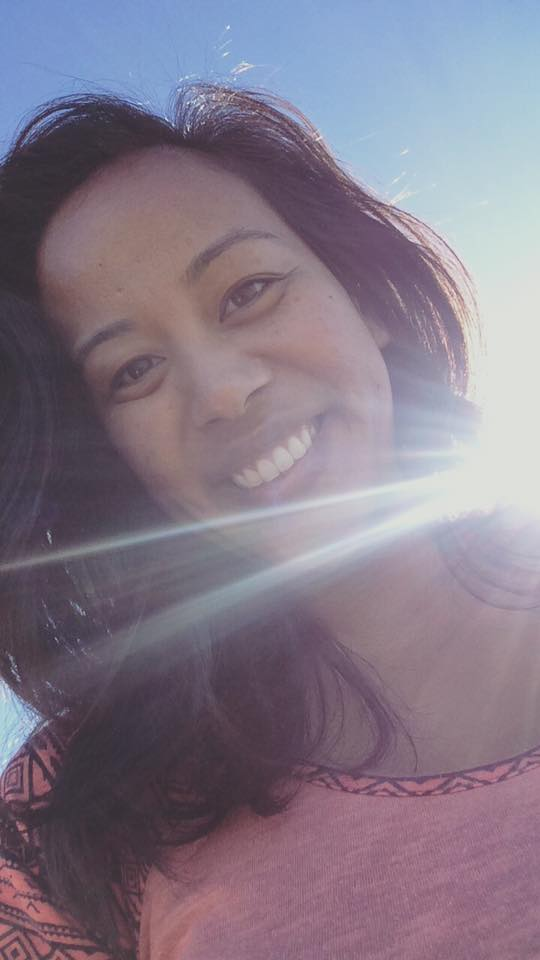 angela in the sun