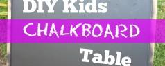 DIY Kids Chalkboard Table