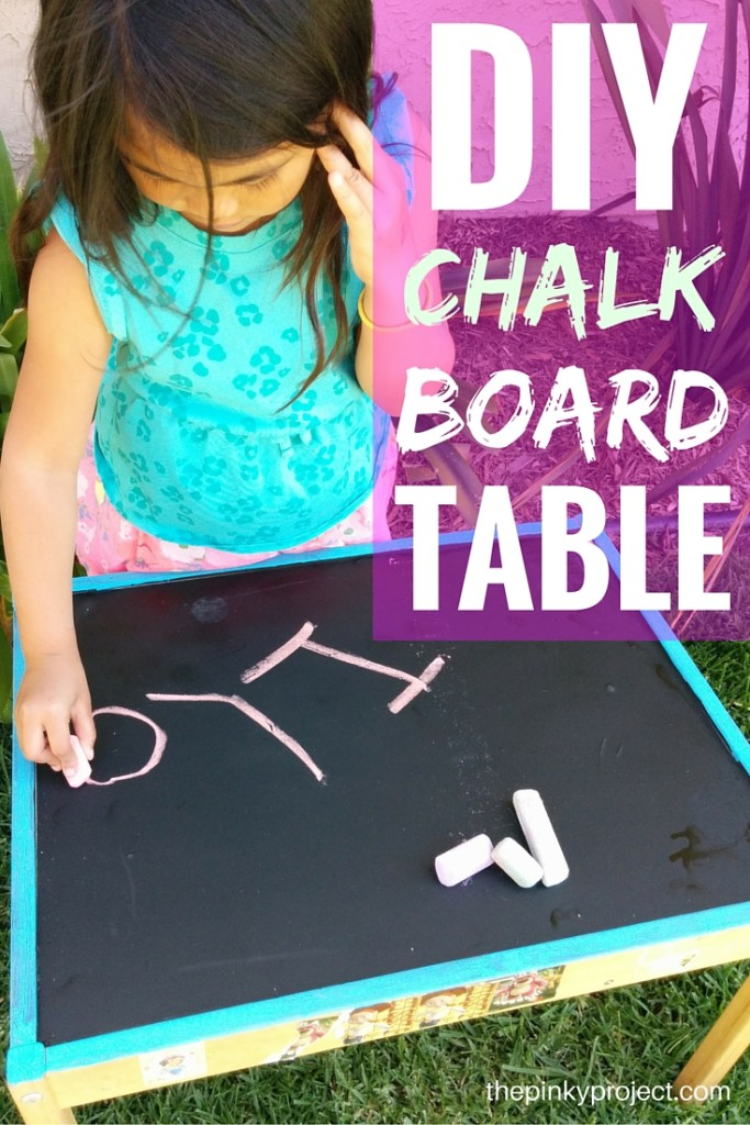 DIY chalkboard table_pinterest image