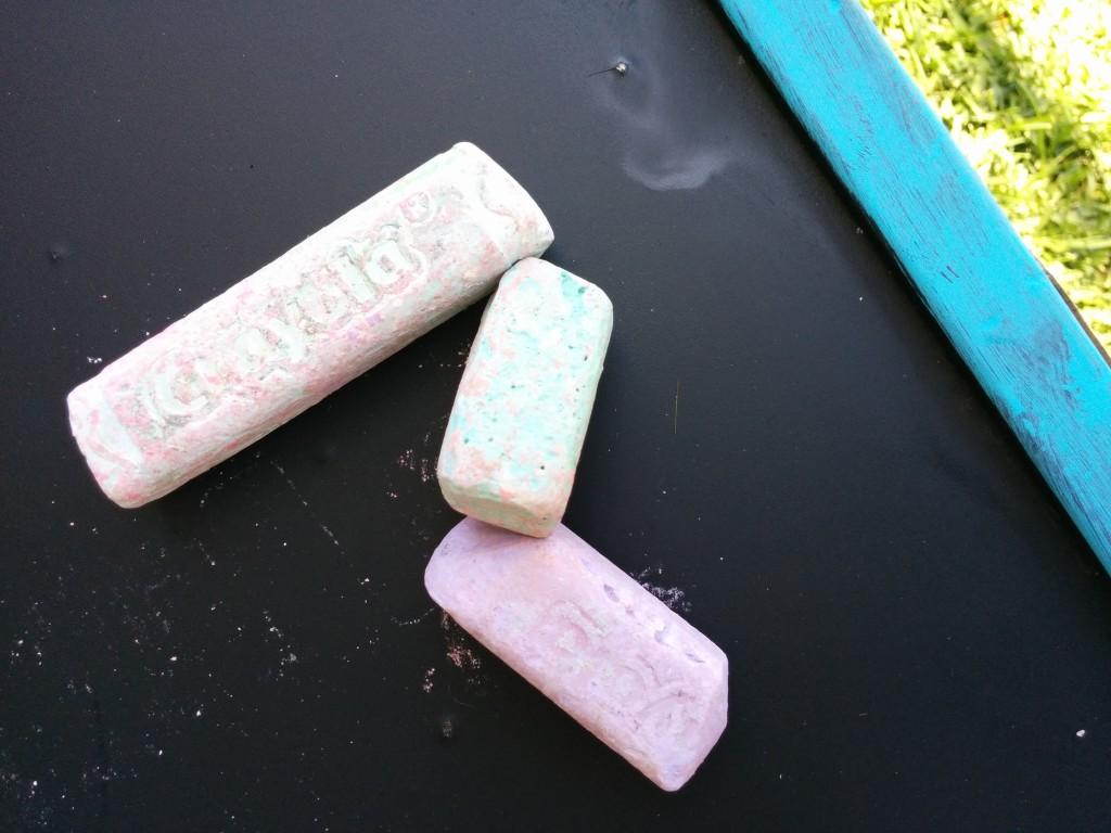 chalk on board