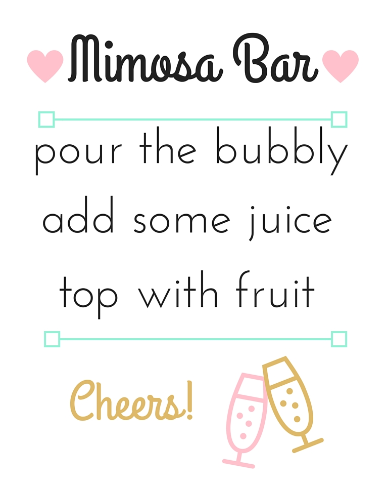 picture relating to Free Printable Mimosa Bar Sign identified as Take pleasure in, Lace Lingerie Bridal Shower - The Pinky Venture