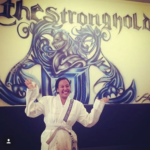 Angela at Stronghold BJJ