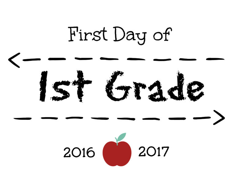 First Day of 1st Grade Sign