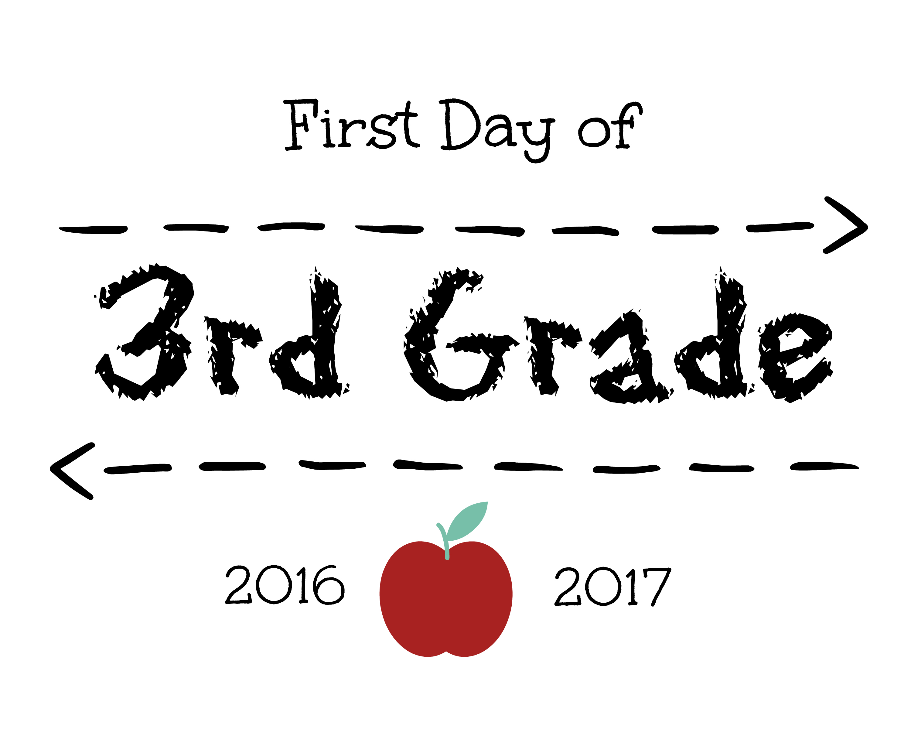photo regarding First Day of 3rd Grade Sign Printable known as Very first Working day of College Signs and symptoms Free of charge Printables