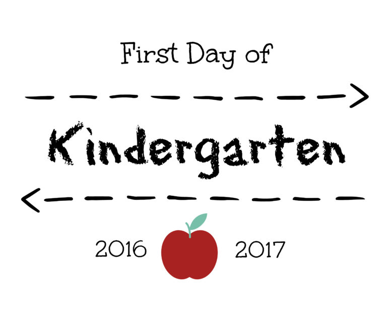 First Day of Kinder Sign