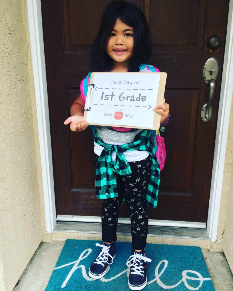 alana_first day of first grade